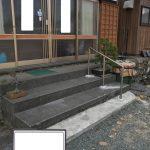 美浜町S様邸 玄関前・裏手階段に手すり設置工事~介護保険を利用して~