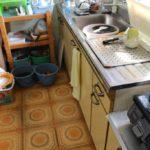 台所床張り工事 1
