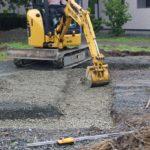只今新築建設中!②地盤調査~掘り方